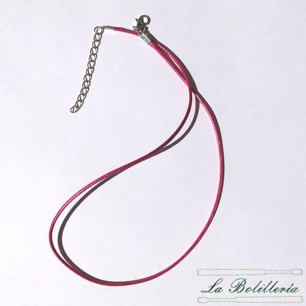 Cordón Hilo Encerado con Cierre Color Rosa