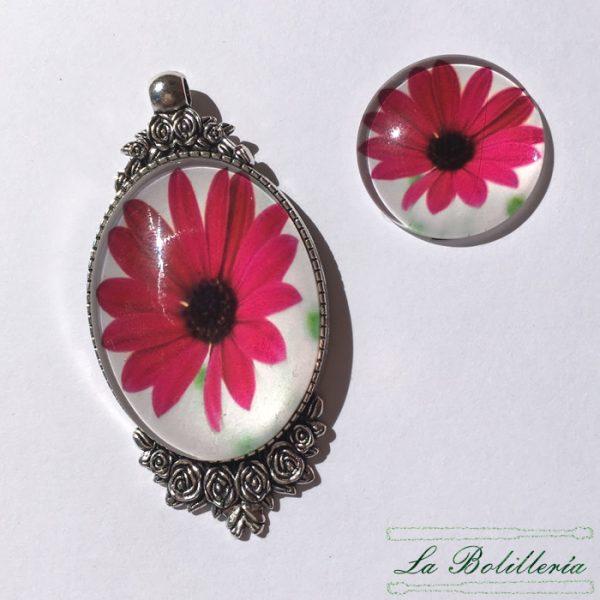 Cabuchones Cristal Flor Modelo 1