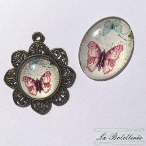 Cabuchones Cristal Mariposa Modelo 3