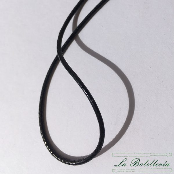 Cordón Hilo Encerado Color Negro