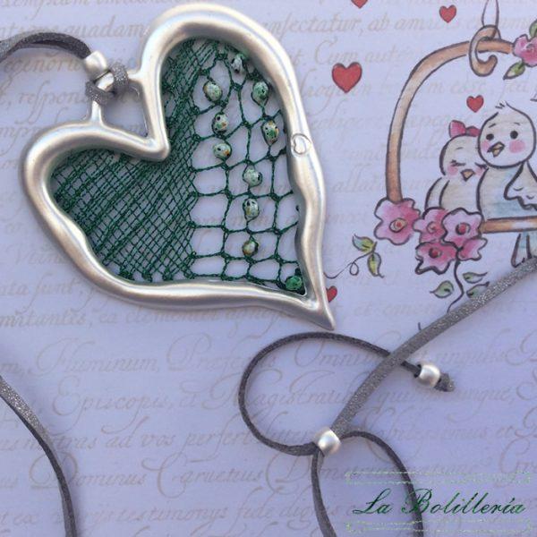 Colgante Corazón Mate Verde