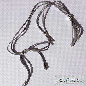 Cordón Doble Antelina Brillo