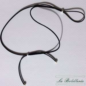 Cordón Antelina Terminal Mate Plata