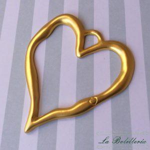 Colgante Corazón Dorado Mate