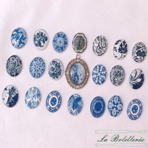 Cabuchones azules 25 x30