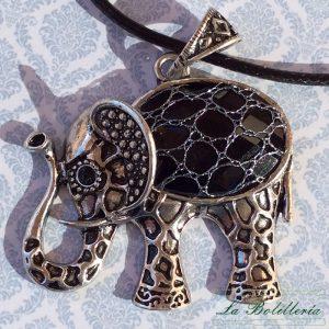 Colgante Elefante Negro