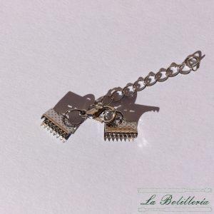 Cierre Pulsera Dentado con cadena 10mm