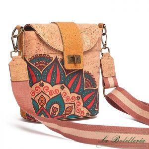 Bolso Complemento de Corcho - La Bolillería - Tu lugar para el Arte de los Bolillos