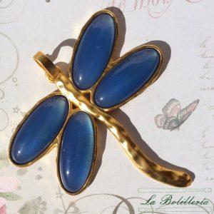 Colgante Libélula Azul - La Bolillería