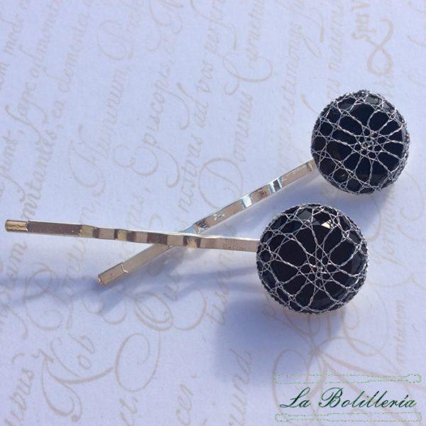Horquillas Piedras Negras - La Bolillería - Tu lugar para el Arte de los Bolillos