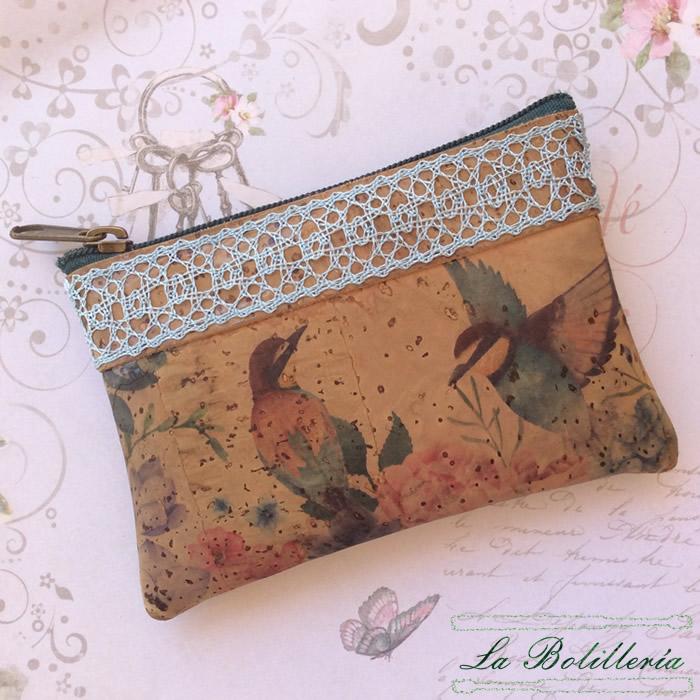 Mochila Mini Pájaros en Primavera - La Bolillería - Tu lugar para el Arte de los Bolillos
