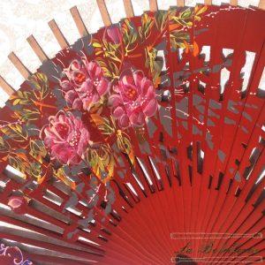 Varillas Abanico Flores Calado Rojo - La Bolillería - Tu lugar para el Arte de los Bolillos
