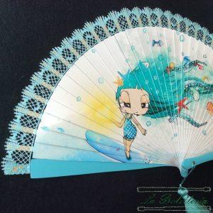 Abanico Verano Azul - La Bolillería - Tu lugar para el Arte de los Bolillos