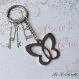 Llavero Mariposa - La Bolillería - Tu lugar para el Arte de los Bolillos