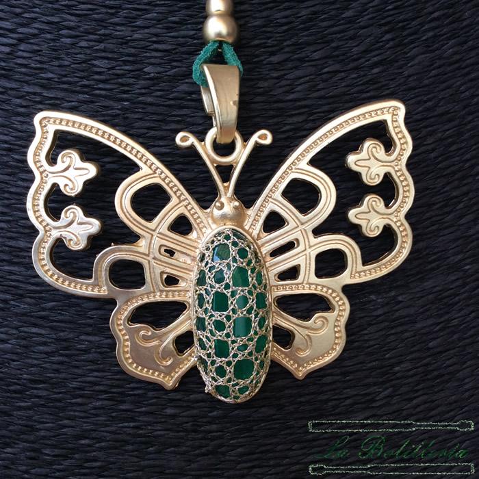 Colgante Mariposa - La Bolillería - Tu lugar para el Arte de los Bolillos