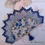 Broche Abanico Azules La Bolillería - Tu Lugar para el Arte de Los Bolillos