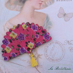 Broche Abanico Flores La Bolillería - Tu Lugar para el Arte de Los Bolillos