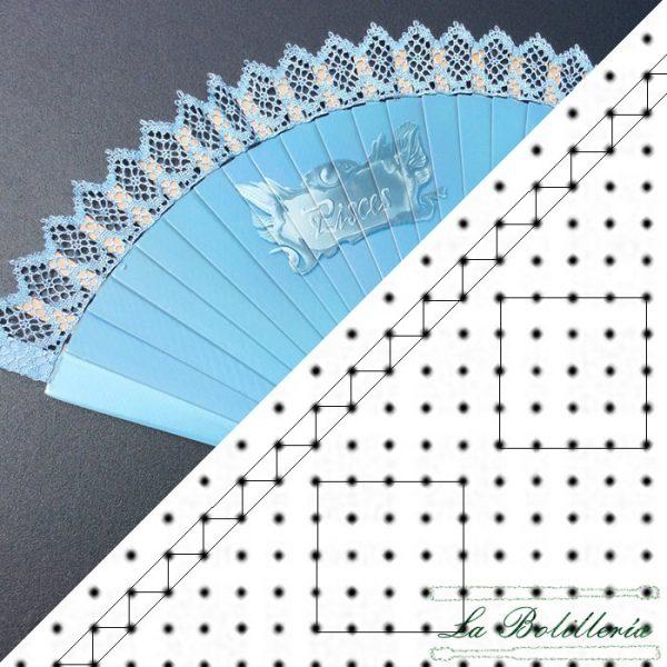 Patrón Abanico Picos - La Bolillería - Tu lugar para el Arte de los Bolillos