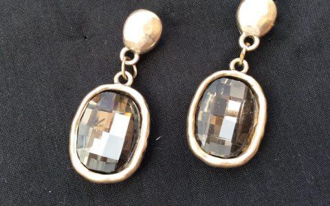 Pendientes Cristal Ovalado - La Bolillería - Tu Lugar para el Arte de Los Bolillos