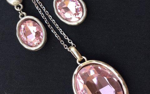 Kit Collar y Pendientes Cristal - La Bolillería - Tu Lugar para el Arte de Los Bolillos