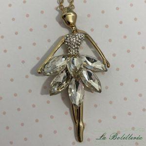 Collar Bailarina Ballet Cristales - La Bolillería - Tu Lugar para el Arte de Los Bolillos