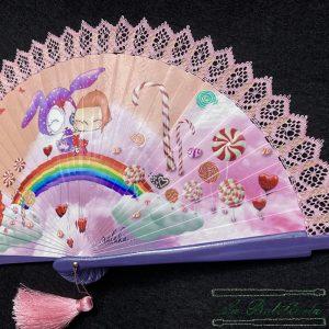 Abanico Dulce Rosa - La Bolillería - Tu lugar para el Arte de los Bolillos