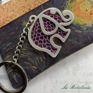 Llavero Elefante Rosa - La Bolillería - Tu lugar para el Arte de los Bolillos