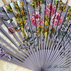 Varillas Abanico Flores Calado Morado - La Bolillería - Tu Lugar para el Arte de los Bolillos