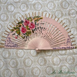 Varillas Abanico Flores Calado Rosa - La Bolillería - Tu Lugar para el Arte de los Bolillos