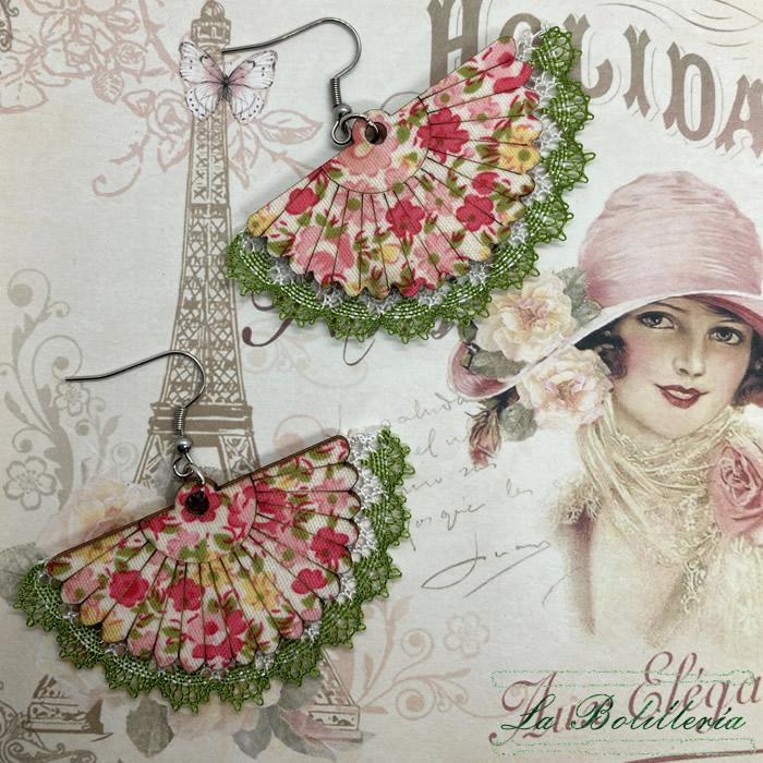 Pendientes Abanico - La Bolillería - Tu Lugar para el Arte de Los Bolillos