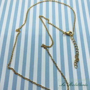 Collar Acero Cadena Dorado - La Bolillería - Tu Lugar para el Arte de Los Bolillos