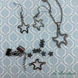 Conjunto Collar, Pendientes y Kit Pulsera Estrellita - La Bolillería - Tu Lugar para el Arte de Los Bolillos