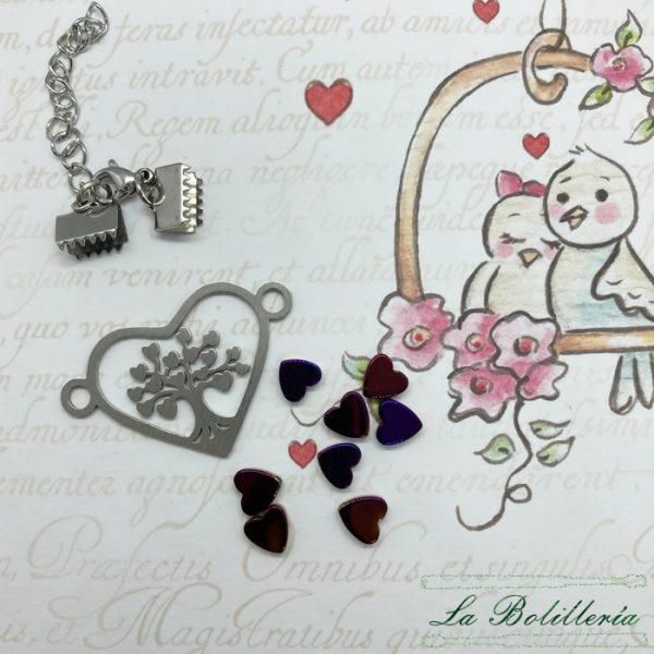 Kit Pulsera Corazón Árbol de la Vida - La Bolillería - Tu Lugar para el Arte de Los Bolillos