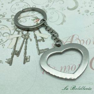 Llavero Corazón - La Bolillería - Tu Lugar para el Arte de Los Bolillos