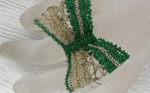Anillo Lazo Verde - La Bolillería - Tu lugar para el Arte de los Bolillos