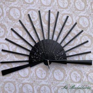 Varillas Abanico Abedul Lacado Negro Modelo 1 - La Bolillería - Tu Lugar para el Arte de los Bolillos