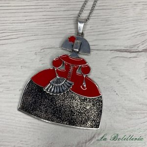 Collar Menina Esmalte Rojo - La Bolillería - Tu lugar para el Arte de los Bolillos